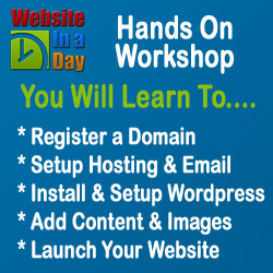 Create Your Own Website In a Day - Hands on Training Workshop